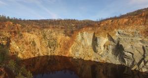Peña del hierro, cuenca minera río tinto